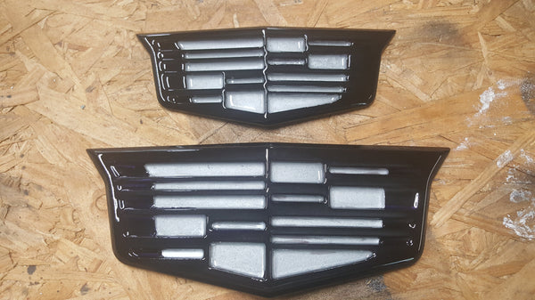 Caddy front or rear billet crest,  - Infinite Machine Concepts
