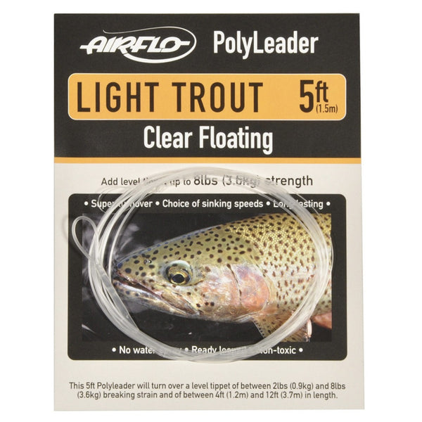 Airflow Light Trout PolyLeader - Fly Fishing Specialties