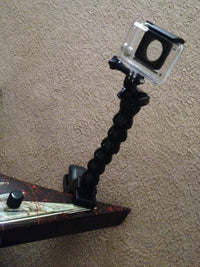 20cm flexible extension JAWS mount for GoPro with guitar