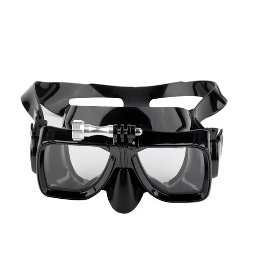 Dive mask with tempered glass for GoPro sale