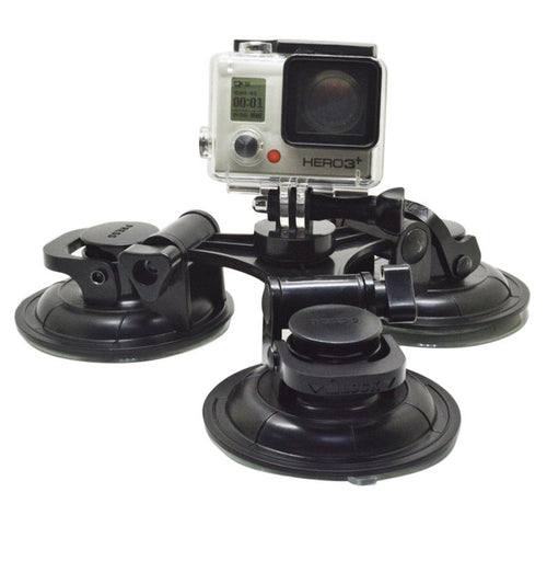 3 way suction cup mount for GoPro