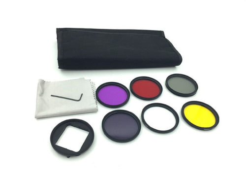 6 piece 52mm filter kit for GoPro