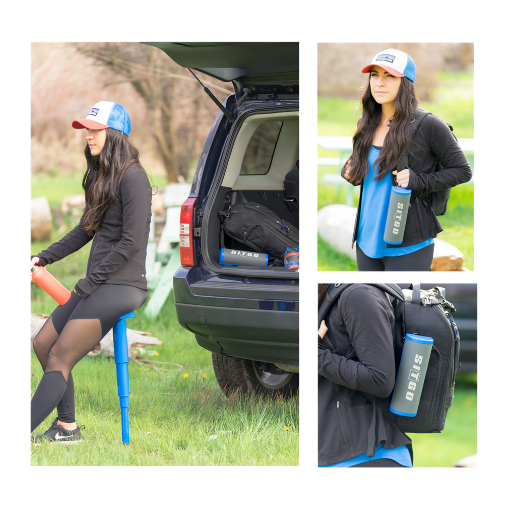 SitGo Portable Travel Stool - Royal Blue