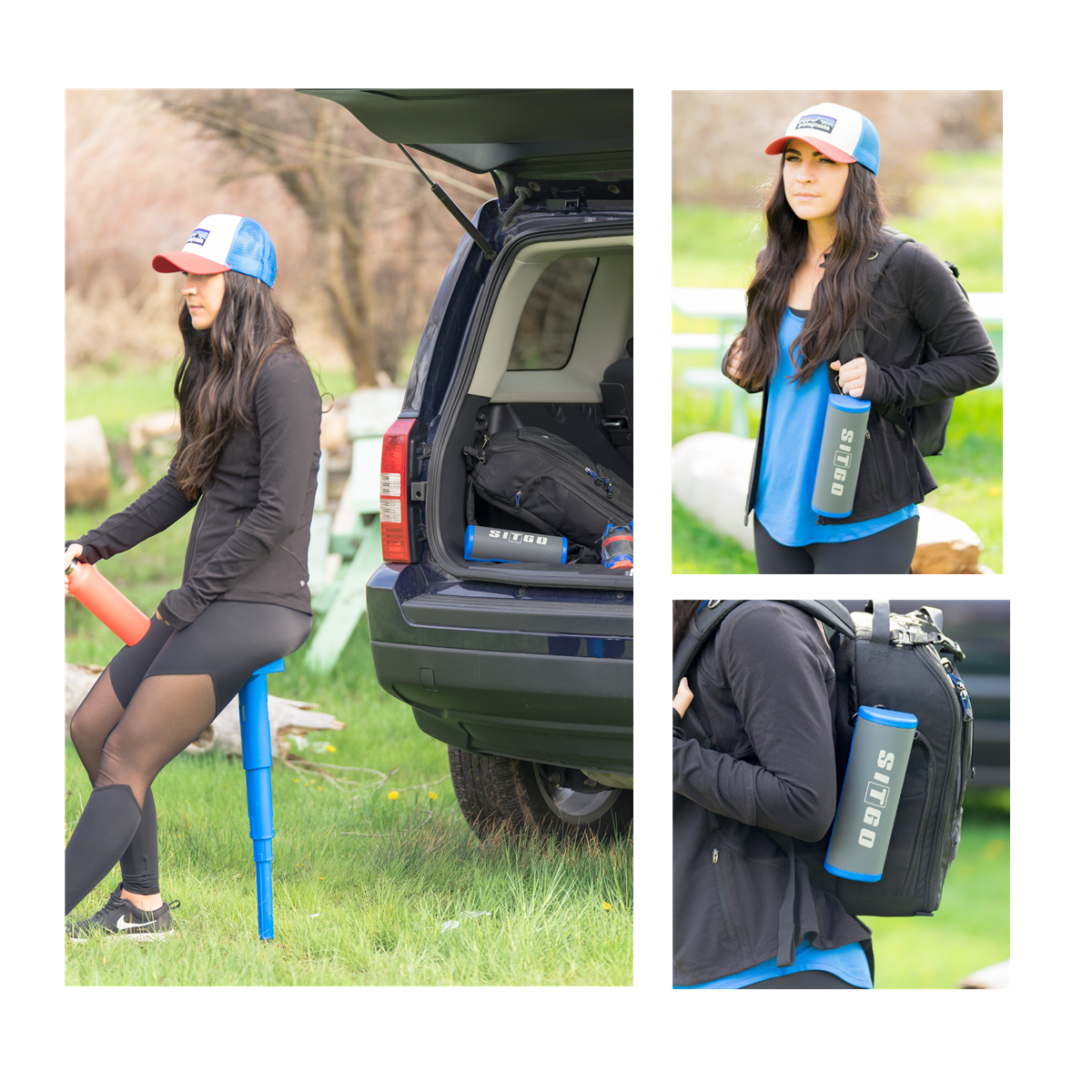 Sitgo Portable Travel Stool Folding Chair Compact Seat