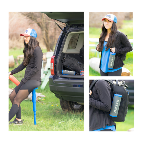 Image of SitGo Portable Travel Stool - Prevent Feet, Back and Leg Pain While Standing