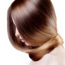 A woman's shiny hair