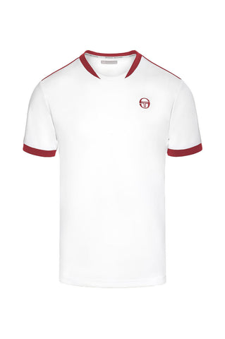 Club tech t shirt - White / Red