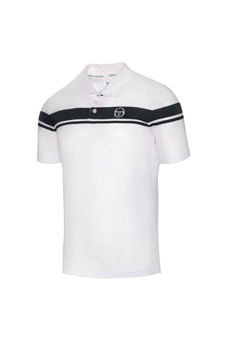 YOUNG LINE PRO POLO-WHITE / NAVY