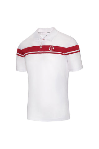 YOUNG LINE PRO POLO-WHITE / RED