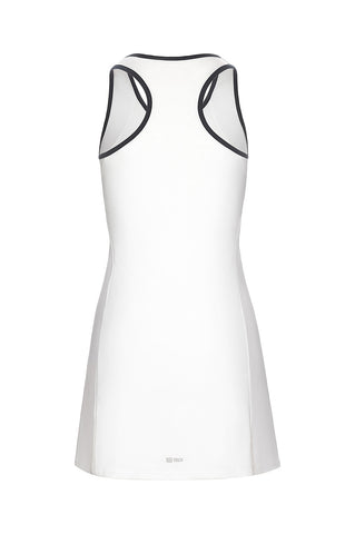 Eva Dress White / Navy