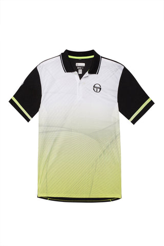 Accell Polo white /black / fluo yellow
