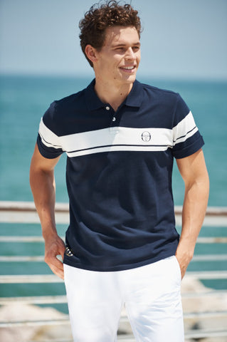 50th Anniversary Polo - Navy / Ivory / Gold
