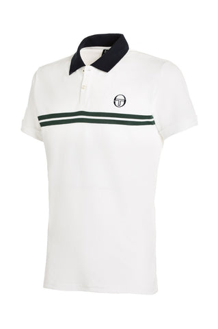 Super Mac Polo - White / Green / Navy