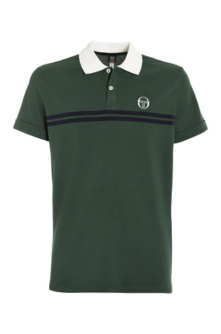 Super Mac Polo - Forest Green / White / Navy