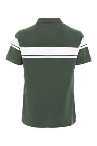 Young Line Polo - Forest Green / White