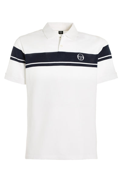 Young Line Polo - White / Navy
