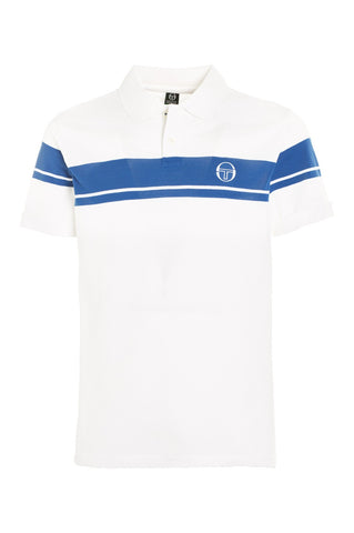 Young Line Polo - White / Royal