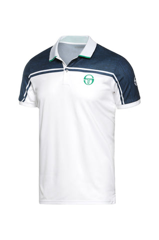BLEND POLO WHITE GOLF GREEN