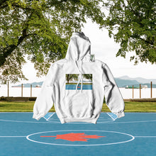 "Load image into Gallery viewer, ""Kits Beach"" White Hoodie WN21"