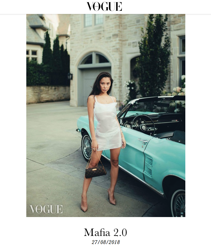 Avila designer Dawn Ngo wearing Lucia Slip featured in Vogue Italia