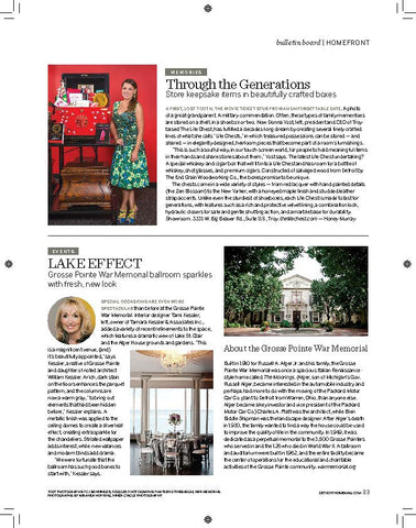 Detroit Home Magazine and The Life Chest