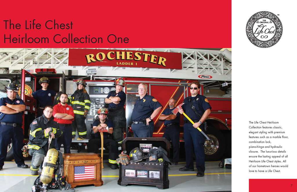 Rochester Fire Department with The Freedom and Patriot Life Chests