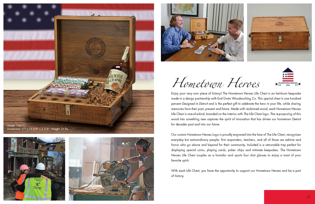 Hometown Heroes Life Chest Made in Detroit Michigan