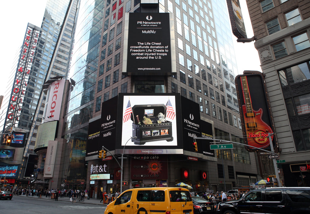 The Life Chest in Times Square NYC