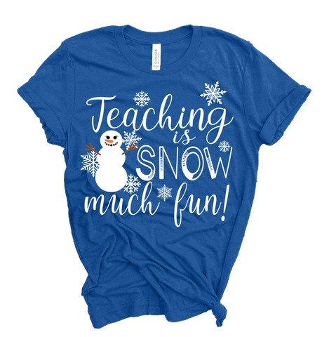 Teaching Is Snow Much Fun T-Shirt