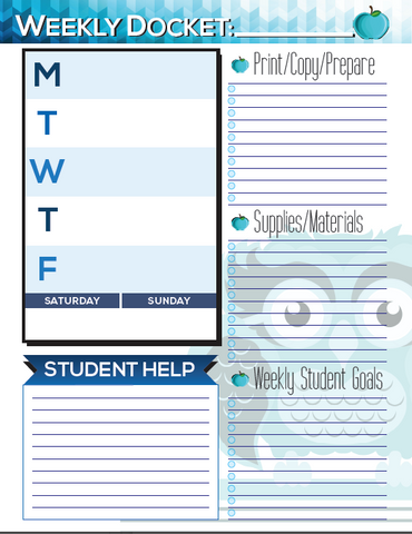 graphic regarding Printable Teacher Planner referred to as Printable Regular monthly Instructor Planner - Undated - The