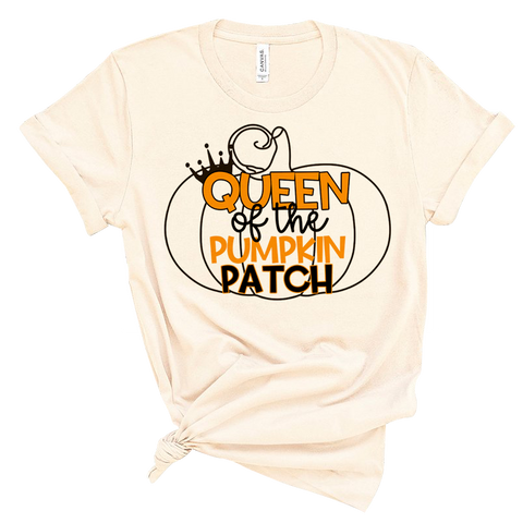 Queen Of The Pumpkin Patch Teacher Tee