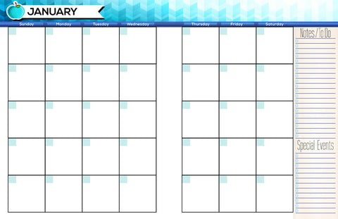 image about Printable Teacher Planner referred to as Printable Month to month Trainer Planner - Undated - The