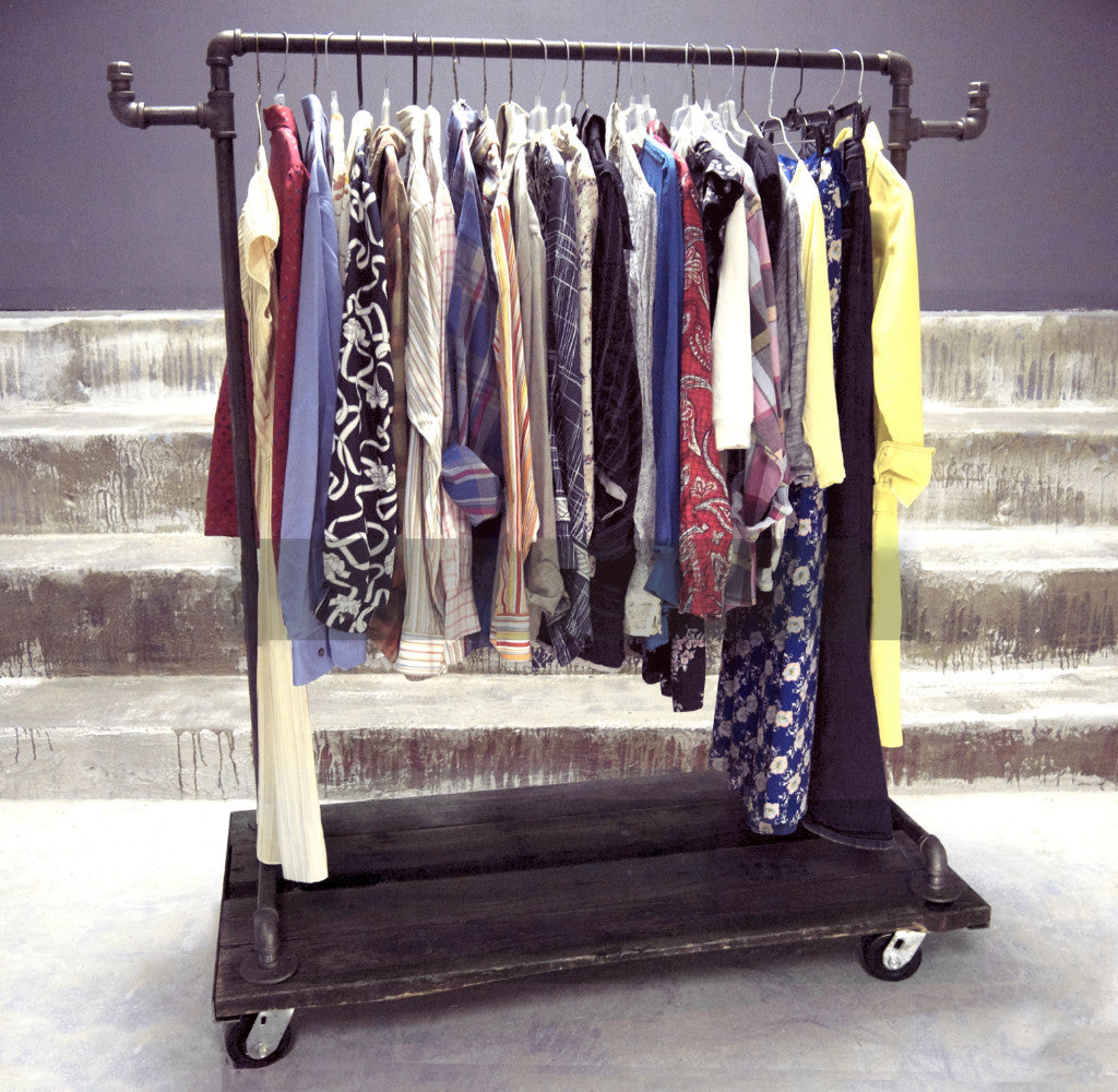 #202 Industrial Garment Rack
