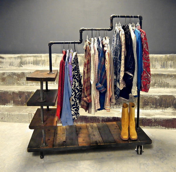 #201 Industrial Garment Rack