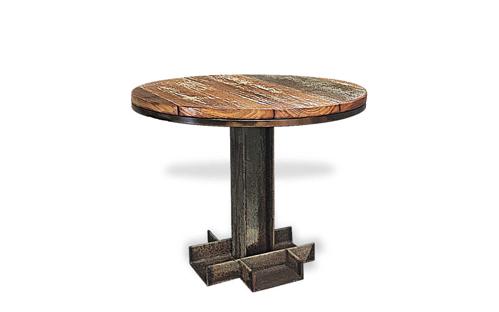Industrial Round Dining Table by Oilfield SLang - Oilfield Slang