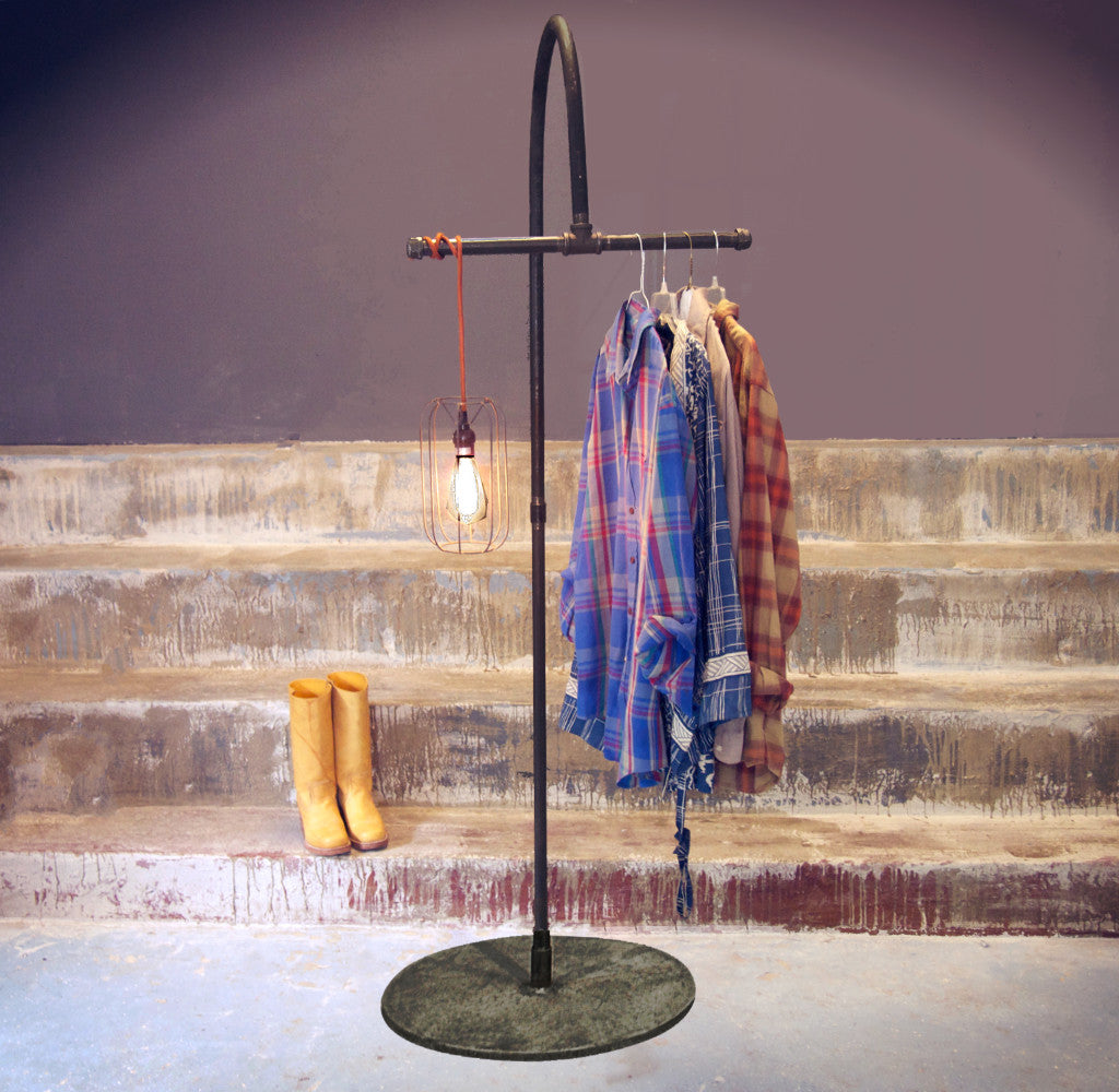 #209 Industrial Garment Stand