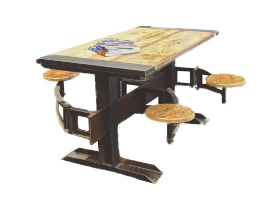 Swing Table orleans swing out seat table with reclaimed woodoilfield slang