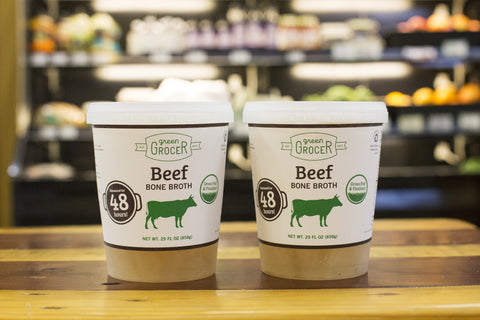 2 Quarts Grass Fed Beef Bone Broth