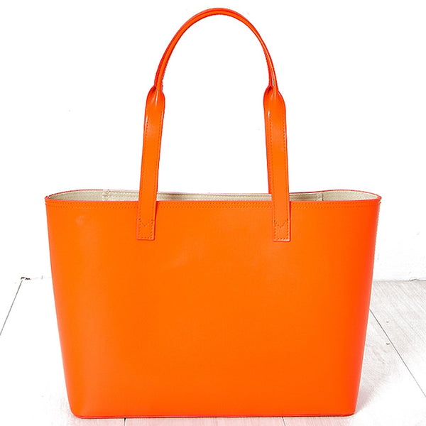 Small Tote Tangerine Orange