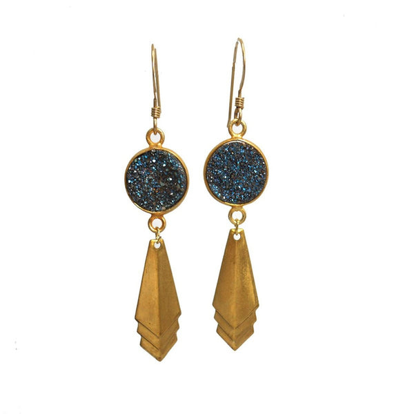 Starry Night Druzy Earrings