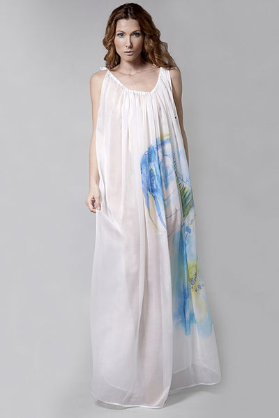 Sheer Silk Maxi Dress