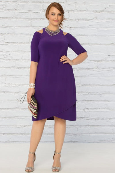 Racy Faux Wrap Dress