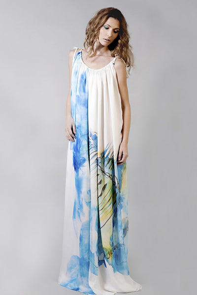 Rich Silk Maxi Dress