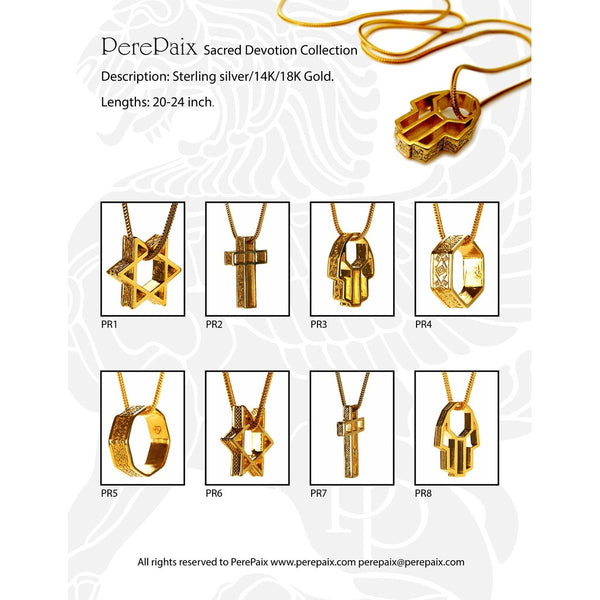 Sacred Devotion Jewelry Necless for Men Gift for mens
