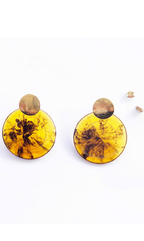 Image of Athena Earrings in tortoise shell