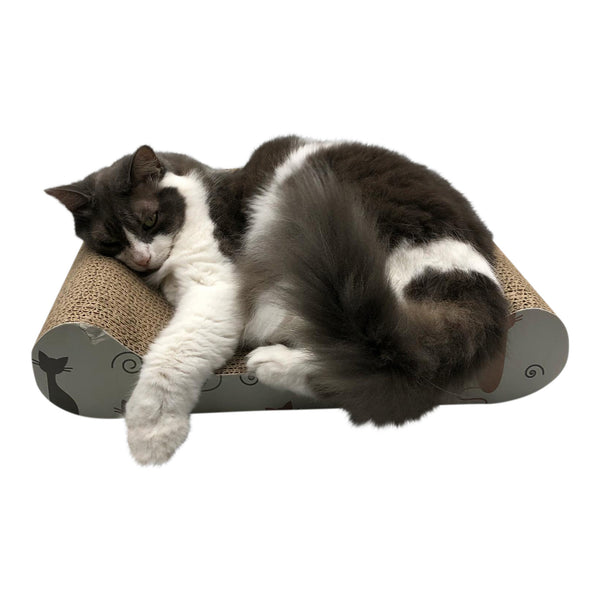 Cardboard Cat Scratcher Sofa Bed by Feline Be Mine