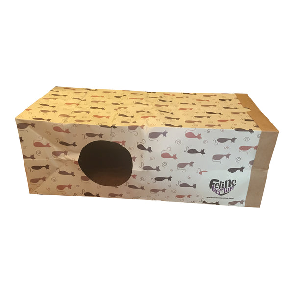 Paper Bag Tunnel for Cats - Hide and Seek Interactive Cat Toys