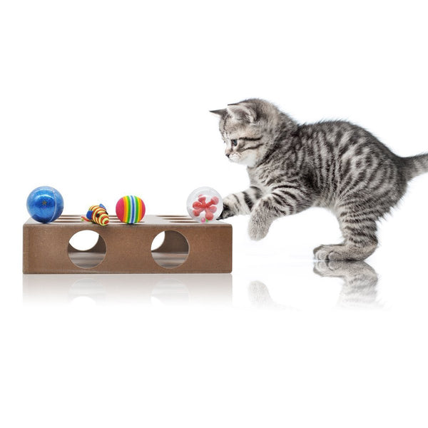 Feline Be Mine Interactive Peek-A-Prize Toy Box Puzzle Toy Box