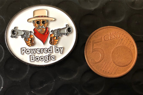 Powered by Boogie pin