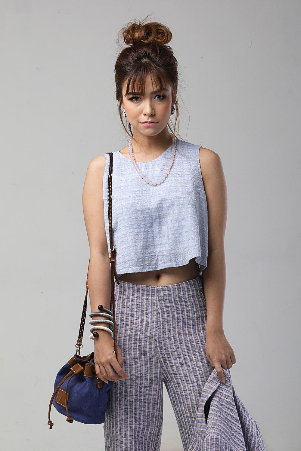 Crop Top Flared Waist